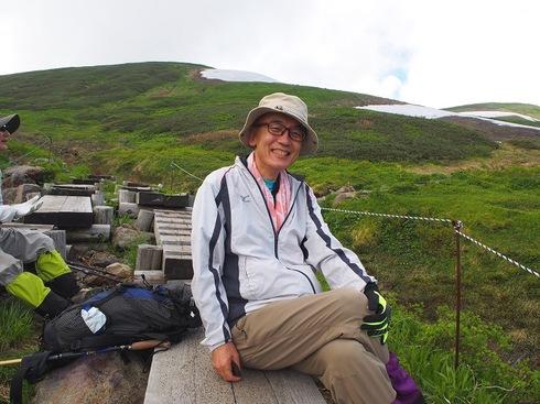 月山下山途中。残りあと少しでやっと笑顔.JPGのサムネール画像